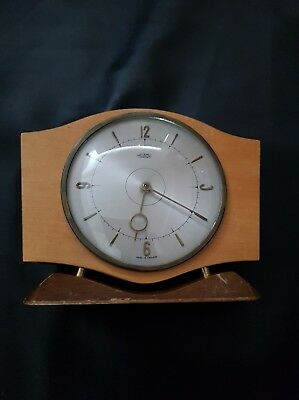 Vintage Retro Metamec Dereham Wooden Mantle Clock