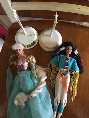 Barbie Doll Lot Of 2 Rapunzel And Native American