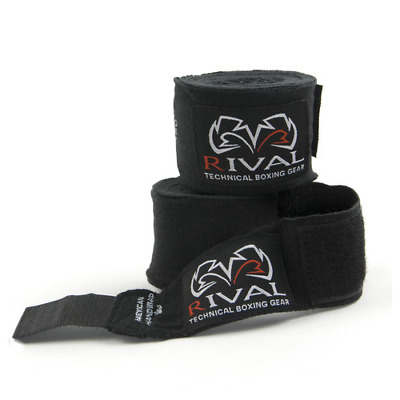 Rival Mexican Hand Wraps 5M Black Stretchy Handwraps Classic Knuckle Protection