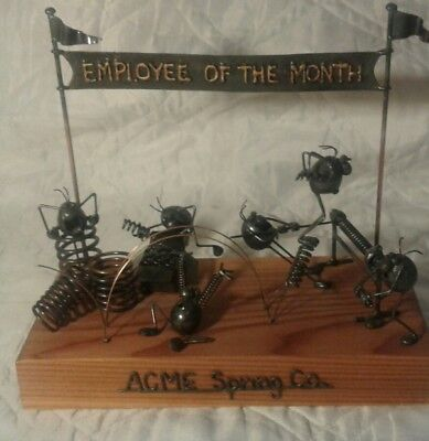 THE ORIGINAL FLEA Employee of the Month METAL SCULPTURE BY GREG QUAYLE