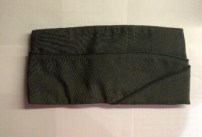 WWII U.S. Army, Enlisted Mans Garrison Cap, O. D. Wool, Blue Piping, Size 7
