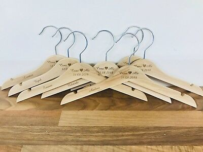 Personalised Engraved Children's Coat Hangers, Flower Girl, Page Boy, Weddings