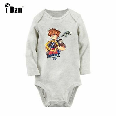 Kingdom Hearts Sora Keyblade Newborn Jumpsuit Baby Long Sleeve Romper Bodysuits