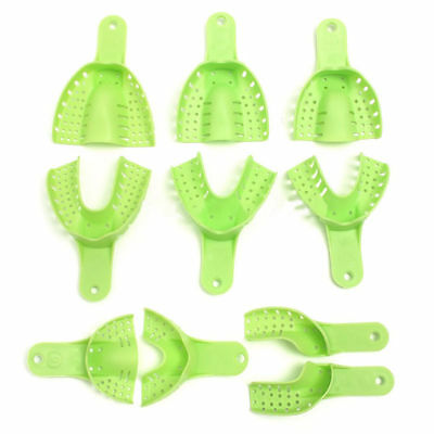 10pcs/Kit Dental Impression Trays Set Plastic Autoclavable Impression material