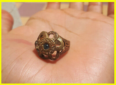 Rare ROMAN Ancient Bronze solide Ring,ROMAN artifact legionary empire rare type