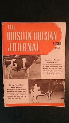 Holstein Journal 1963 Seiling Farms + Major Shows + All-Canadian & Sale Of Stars