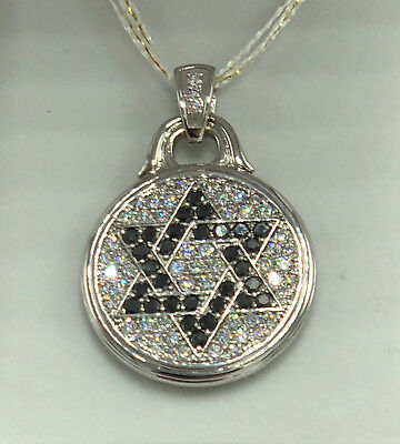 One-of-a-Kind Star of David Locket Necklace W Gold w Over 5.25 Diamonds All VS1