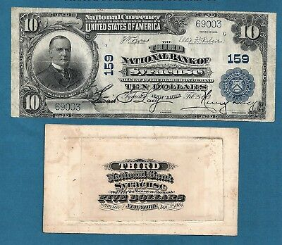 1902 $10 # 159 3rd National Bank of Syracuse New York and 1st charter Proof