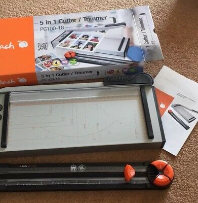 Guillotine Cutter & Trimmer 5-in-1 Paper Cutter Guillotines Trimmers NEW