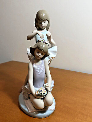 """Very Charming Lladro Figurine """"First Ballet"""" #5714, with Original Box"""