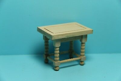Dollhouse Miniature Unfinished Wood Side Table / End Table ~ GW013