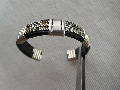 Bracelet Aspect Ethnique  Argent Massif Veritable Mexico 925 40.90 Grs Gb