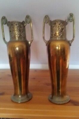 Pair of Early 20th Century WMF Amphora Style?/ Art Nouveau