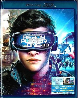 Ready Player One (3D+2D Blu-ray) Factory Sealed Region A (2018) 挑戰者1號
