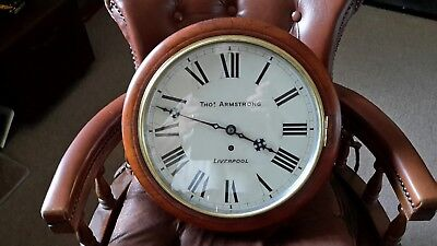 12in fusee school clock. .marked. Tho..Armstrong. ...Liverpool