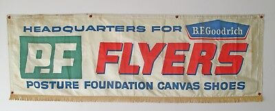 Vintage P.F Flyers Advertising Banner Sign Sneakers Shoes