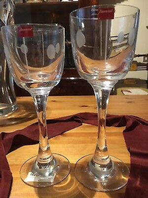 Set 2 Bicchieri Originali Nuovi Baccarat Tranquility Verre Glasses New with Tag