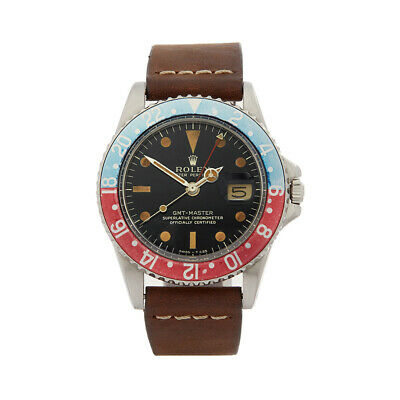 Rolex Gmt-Master Pepsi Gilt Dial Stainless Steel Watch 1675 Com1640