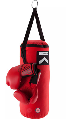 Boxing Set 3ft Filled Heavy Punch Bag, Gloves, Chains, Bracket, Rope, Hand Wraps