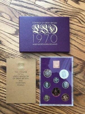 1970 Coinage of United Kingdom of Great Britain and Northern Ireland Set in Case