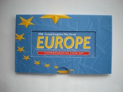 Royal Mint 1998 EEC Europe EU 50p fifty pence pair 2 coin set BU Pack