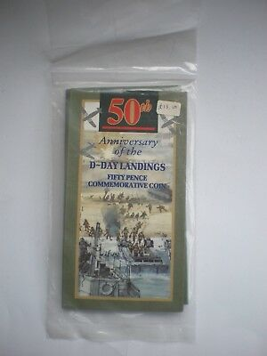 1994 Royal Mint D-Day Landings 50th Anniversary BU 50p Fifty Pence Coin Pack