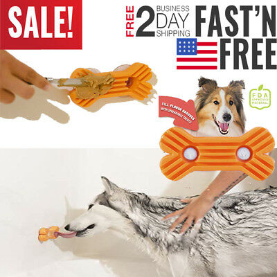 Dog Toy Interactive KONG Wobbler Treat Food Rubber Chew Dispensing Small Large