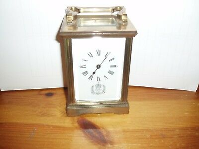 1977 Queens Silver Jubilee   Carriage Clock  Inc Key   Great Condition