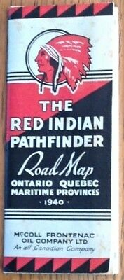 1940 Ontario, Quebec, Maritime Roadmap by McColl Frontenac Oil