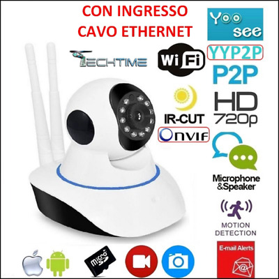 Ip Camera Hd 720P Wireless Led Ir Lan Motorizzata Wifi Rete Onvif Telecamera 2An