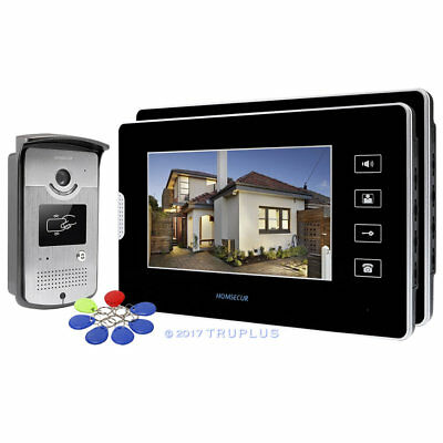 HOMSECUR 7'' Touch-Button LCD Video Door Bell Intercom with RFID Keyfobs Unlock