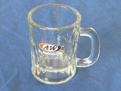 """A&W Miniature Root Beer Glass Mugs 3.25"""" Child Size"""