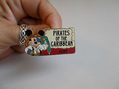 Walt Disney Trading Pin Disneyland Park Pirates of the Caribbean JUDY Name Pin