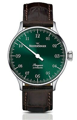 MeisterSinger Men's Pangaea Leather Strap Single Hand Automatic Watch PM909