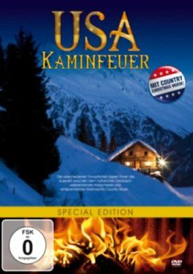 USA Kaminfeuer ( Entspannung, Relax mit country Musik oder Ambient ) NEU