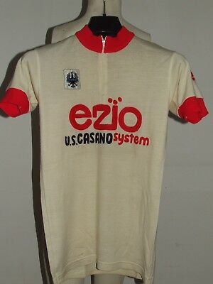 eef71b9b1 Shirt Bike Shirt Maillot Cycling Eroica Vintage 70 s Ezio 50% Wool  Embroidered