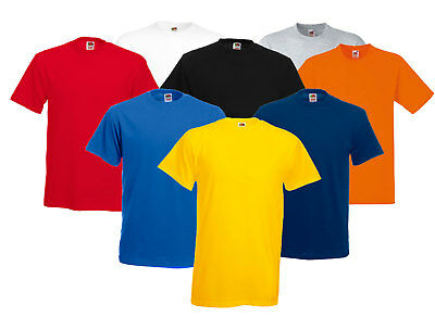 Fruit Of The Loom Boys Girls Kids T-Shirts Plain Round Neck t Shirt 1-15 Years