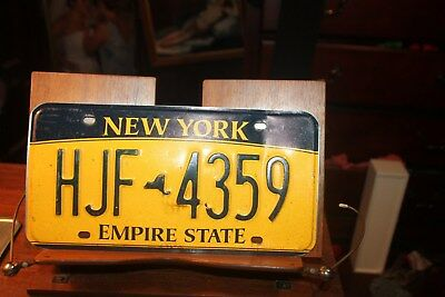 2010 New York Empire State License Plate  HJF 4359