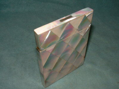 Mother of Pearl Card Case c1890 (3719)