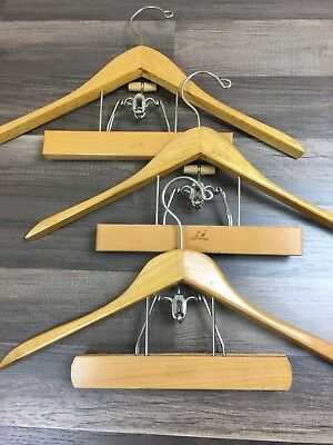 The Setwell Luxury Wooden Suit Jacket & Pant Press Style Hangers Set of 3