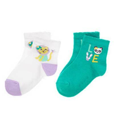 Gymboree 4T-5T PAINTING PALS 2 PAIR SOCKS PANDA LION NWT