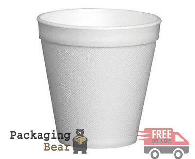 100 x 7oz DART POLYSTYRENE FOAM THERMAL CUPS HOT DRINKS (190ml) | FREE P&P