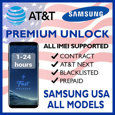 Unlock Code Service For At&T Samsung Galaxy S10 S10+ S9 S8 S7 & Note 10 10+ 9 8