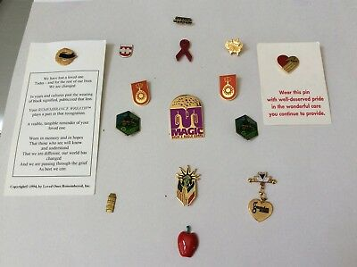 Collectible Lot Of (15) Lapel Pins, European Pins And Domestic Pins, Some Vntg