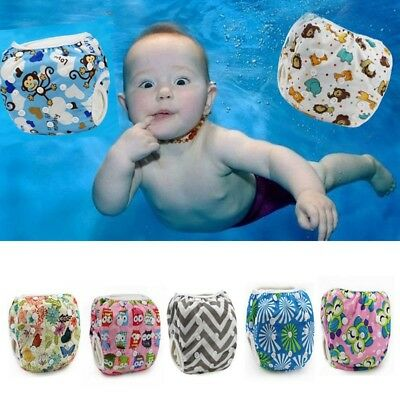 Adjustable Swim Nappy Diaper Reusable Baby Infant Boys Girls Toddler Pants-: