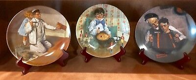 SET OF 3 Bradford Exchange Knowles Norman Rockwell Plates Jack Horner, The Pai..