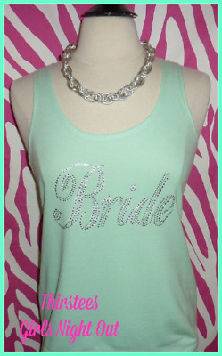 NEW size M misses mint bli bride tank top bachelorette tank top bride to be gift