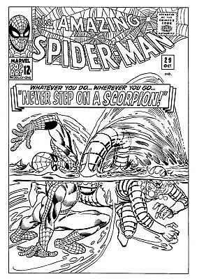 original spider-man comic art cover recreation