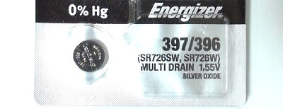 1x Energizer Battery 397/396 SR726SW Multi Drain 1.55V Lithium Watch Button Cell