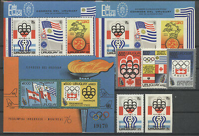 Olympiade 1976, Olympic Games, Sport - Uruguay - ** MNH 3 scans